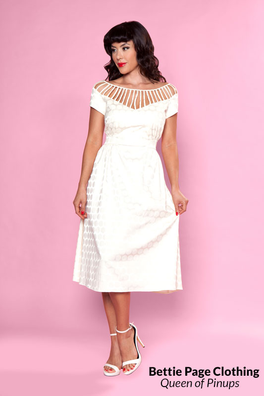 Vintage Inspired Wedding Dresses Put A Ring On It Dress by Bettie Page $118.00 AT vintagedancer.com