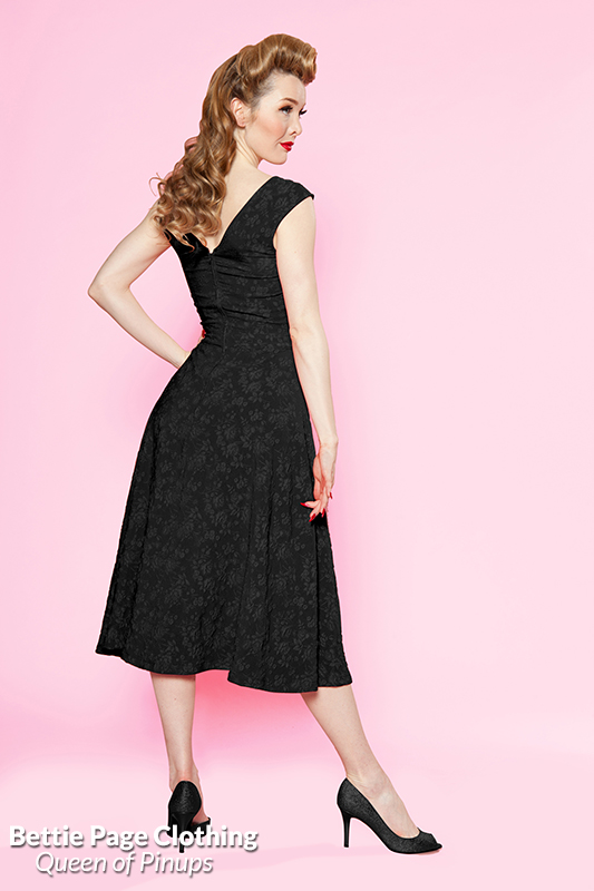 Roman Holiday Lace Dress Black By Bettie Page Bettie Page