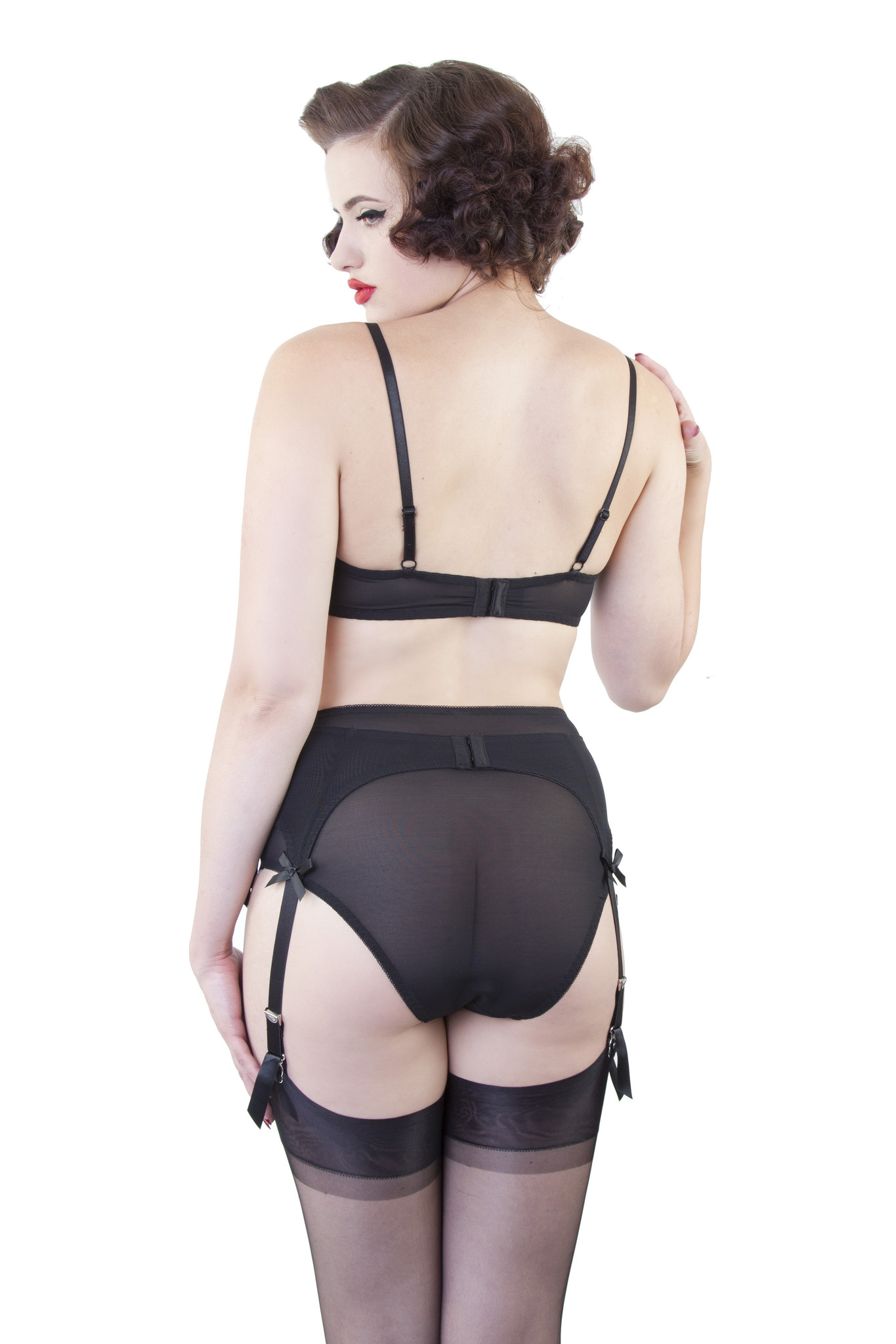 003292bc2 Classic 6 Strap Suspender Belt by Bettie Page