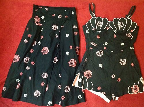 1950's DeWeese playsuit set