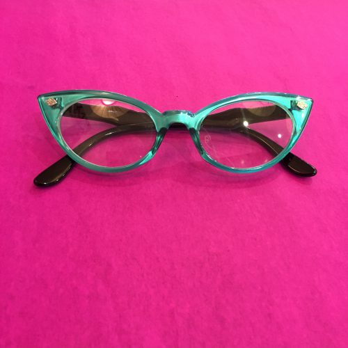 Unique Retro Vintage Style Sunglasses & Eyeglasses Retro Cat Eye Glasses (Turqouise) $25.00 AT vintagedancer.com